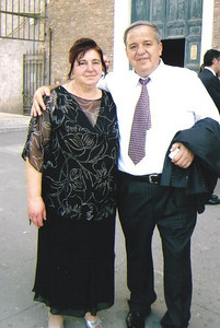 Pat Ziroli, right, and his cousin, Dominica, in Italy in 2008. (Photo courtesy of the family.)