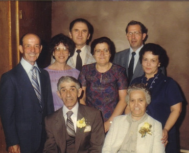 Pat Ziroli's aunt Elia Riegel, standing on the right, and some other members of the Pat's extended family. (Photo courtesy of the family.)