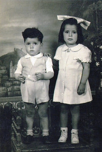 Pat Ziroli and his sister, Bice, in their native Itally. (Photo courtesy of the family.)