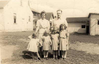 The Mason family: back row, Phyllis and Herbert Karl; front row, Mary Lee, Janice, Judy and Pat.