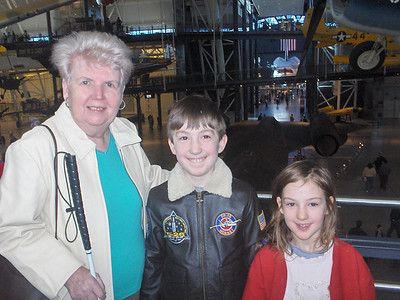 Pat Beattie and her grandchildren, Isaac and Phyliss Weeks.