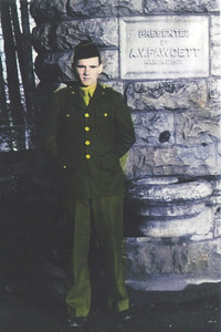 Paul Dziiak served as a radio operator with the Army's 44th Infantry Division in Europe during World War II.