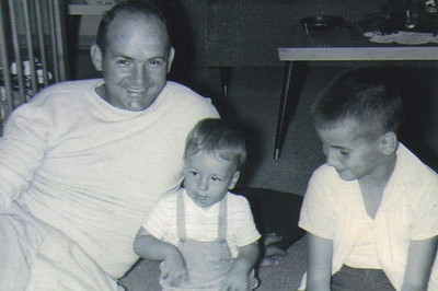 This photo of Paul Dziak and his sons, Jeff and Ron, was taken around 1956.