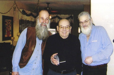 Paul Dziak is flanked by sons, Jeff (left) and Ron (right), in this recent photo.