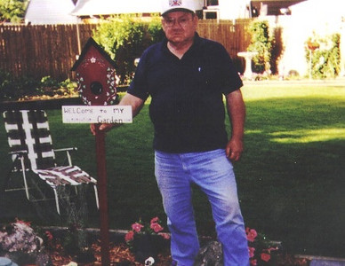 Paul Dziak, who loved gardening, planted flowers and vegetables wherever he could find space in his yard.