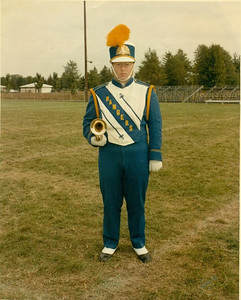 Paul Goode played trumpet in the North Ridgeville High School Rangers Marching Band. (Photo courtesy of the family.)