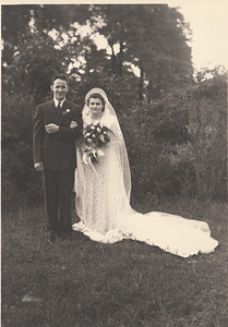 """Paul Gray married Lillie Naegele at Wellington Methodist Church on Aug. 6, 1938. Paul like to say, """"Lillie is my wife, but more important, she is my best friend."""" (Photo courtesy of the family.)"""