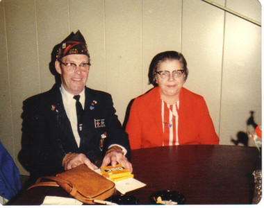 Ray Church and his wife, Millie, pictured at a veterans event in the early 1980s, when Ray served in a leadership position with VFW DIstrict 9. Millie served as president of the VFW Post 6941 Auxiliary and volunteered with Ray at the Ohio Veterans Home in Sandusky.