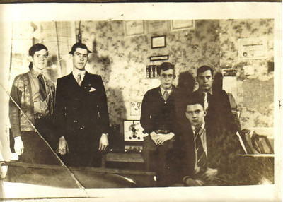 Ray Church, second from left, helped organize what is believed to have been the first 4-H Radio Club in the United States in the 1930s.