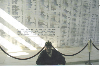 Ray Church visited the USS Arizona memorial at Pearl Harbor on a trip to Hawaii in 2007.