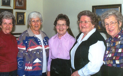 The Boron sisters in the 1990s: From the left, Philomena Mittler, Rosalee Anderson, Sophia Bedocs, Caroline Hahn and Antoinette Jablonski. (Photo courtesy of the family.)