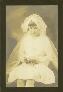 Sophia Boron's First Holy Communion photo, taken in the 1920s. (Photo courtesy of the family.)
