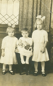 Baby Sophia Boron, center, flanked by her sisters, Caroline, left, and Antoinette, right, circa 1918. (Photo courtesy of the family.)