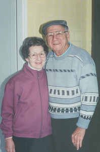 Sophia and Ernie Bedocs, pictured in their daughter Nita's kitchen in 1990. (Photo courtesy of the family.)