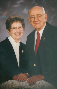 Sophia and Ernie Bedocs pose for a portrait to mark their 50th wedding anniversar in 1997. (Photo courtesy of the family.)