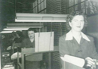 Sue Sklenar worked at Bendix-Westinghouse in Elyria during World War II.