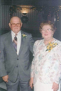 John and Sue Kerchmar, pictured at their 50th wedding anniversary in 1992, had been married for 60 years when John died in May 2003.