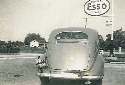 "This photo of a car sporting a 1940 license plate was labeled as ""First Car"" in a family photo collection."
