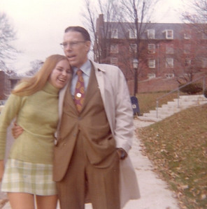 Tom Bowen with daughter Tina in 1972 on the campus of Denison University, the alma mater of Tom, his wife, Jean, and Tina. (Photo courtesy of the family.)