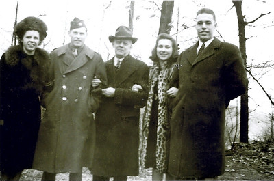 Bowen family in the mid 1940s. From the left, Tom's sister Angela Bowen Williamson (whose husband's estate recently donated $23.5 million to Case Western Reserve University), his brother David (a World War II veteran), father, Robert L., Jean and Tom.  (Photo courtesy of the family.)
