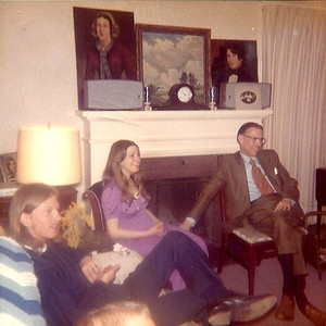 Tom Bowen, right, with daughter Jeanette and a friend in 1972. (Photo courtesy of the family.)