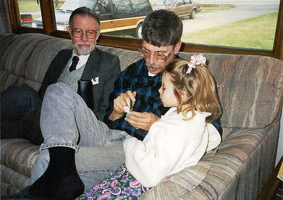 Tom D. Bowen, his son, Tom C., and granddaughter Aleta in 1991. (Photo courtesy of the family.)