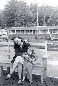 Jean Bowen with daughter Tina around 1954. (Photo courtesy of the family.)