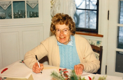 Virginia Schlather served as bookkeeper for her husband's insurance agency.