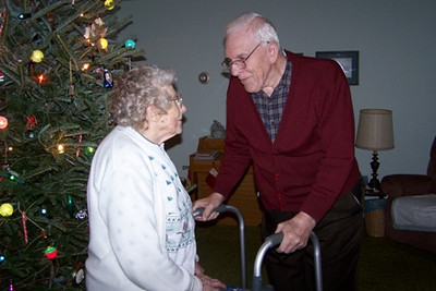 Virginia and Bernie Schlather at Christmas 2007.
