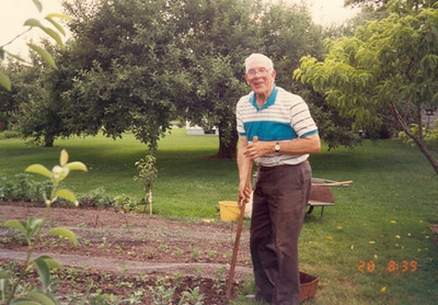 Bernie Schlather maintained a backyard garden filled with vegetalbes, fruits and flowers.