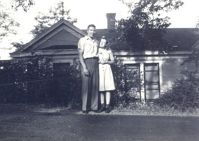 Bernie and Virginia Schlather, shown in 1946, became enamored of one another as members of the Marian Club for young people at St. Mary of the Falls Catholic Church in Olmsted Falls in the 1930s.