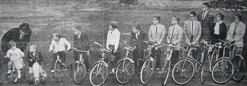 The Schlather kids got around Elyria and rode as far as Olmsted Falls to visit family. This photo was published in the Elyria Chronicle-Telegram in the 1960s.