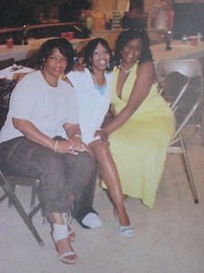 Karen Barnes, Tippie Moon and Shirley Pruitt Glover at Tippie's sister's retirement party.