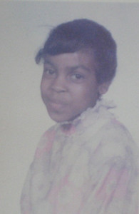 Tippie Moon, probably in second grade at Garfield Elementary School.