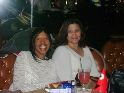 Tippie Moon and friend Adrianne Calhoun.