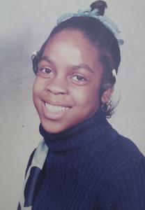 Tippie Moon, Garfield Elementary School pupil, probably in 6th grade.