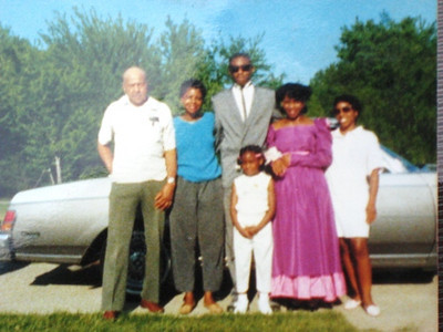 Tippie Moon, right, poses with, from the left, her father, Hix, sister, JoAnn, daughter, Tamira, in front, Colette Ballard, in pink, and Colette's date behind them all. Hix died in 2003. Tippie's mom, Mary, died in 1980. Tippie's brother, Robert, died in 1990.