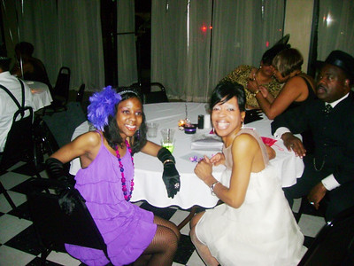 Tippie Moon, right, and her daughter, Tamira, left, at her daughter's 30th Harlem Renaissance birthday party in Atlanta.