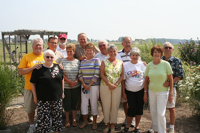 Tom and Peggy Kuns, the couple on the left, are pictured with Tom's siblings and their spouses.