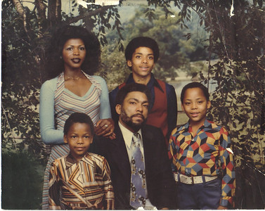 Jackson family portrait from mid-1970s:  Front, from left, Ereck, Tommie Sr., Jerome. Back, from left, Alice, Tommie Jr.