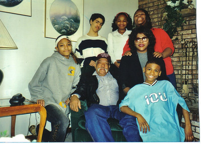 Jackson family snapshot from around 1999:  Clockwise from left: Marissa, Chad, Ruby, Latesha, Alice, Anthony, Tommie.