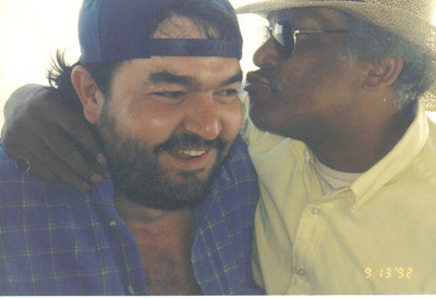Tommie Jackson, right, jokes around with an Elyria Foundry coworker during a fishing excursion on Lake Erie in 1992.