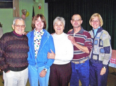 Vargo family portrait: From the left, Turk, his daughter Vicky, wife, Eleanor, son, Bob, and daughter, Julie.