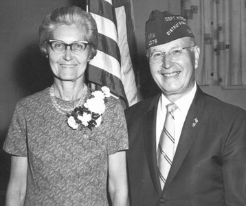 Velva and Tom Mihalis at a veterans event in 1976.