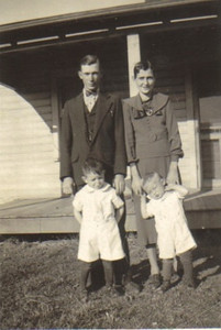 Warren and Margaret Powelson and two of their kids in the late 1930s.