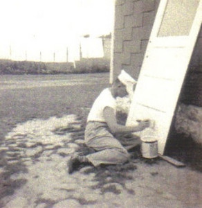 Warren Powelson, working on a painting project.