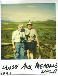 Mary Anne and Larry Carroll, on vacation at L'anse aux Meadows, Newfoundland, Canada, in 1991.