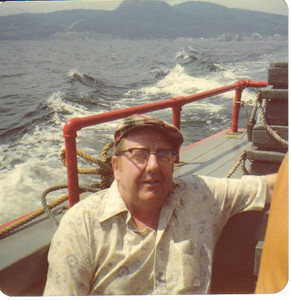 Larry Carroll was on an Alaskan ferryboat when his wife, Mary Anne, snapped this photo in the 1970s.