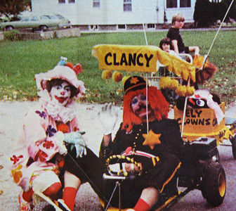 Marilyn Exline, a.k.a. Miss Happy, and her husband, Jim, a.k.a. Clancy, belonged to the Ely Clowns, who clowned around at parades, parties and community festivals in the 1970s.