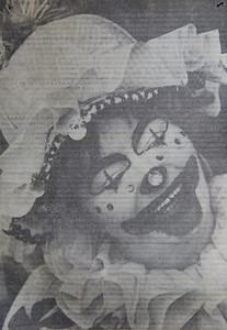Marilyn Exline, a.k.a. Miss Happy the Clown, circa 1977
